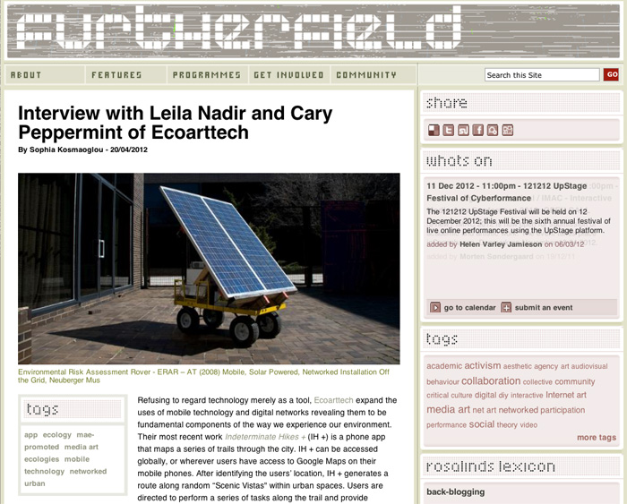 Interview with Furtherfield.org's Sophia Kosmaoglou